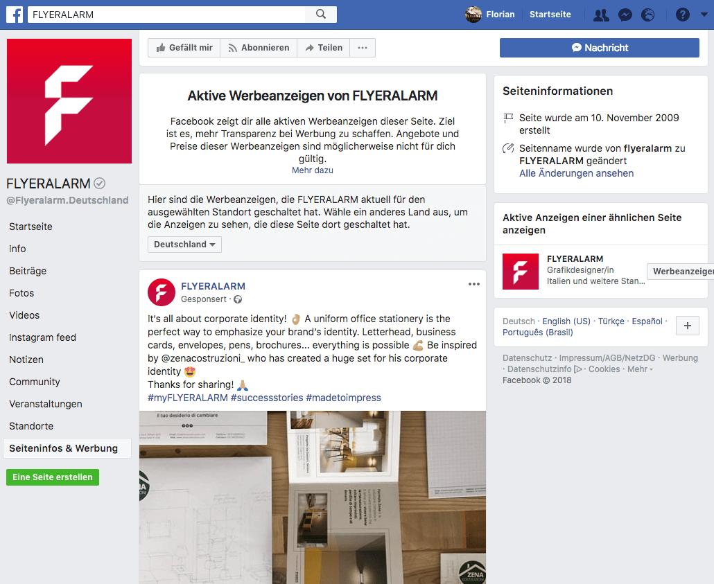 """Aktuelle Anzeigen der Online-Druckerei """"Flyeralarm"""""""