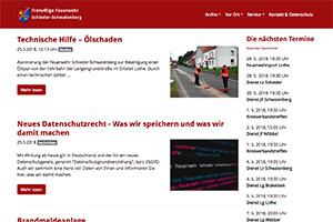 Screenshot Feuerwehr Webseite